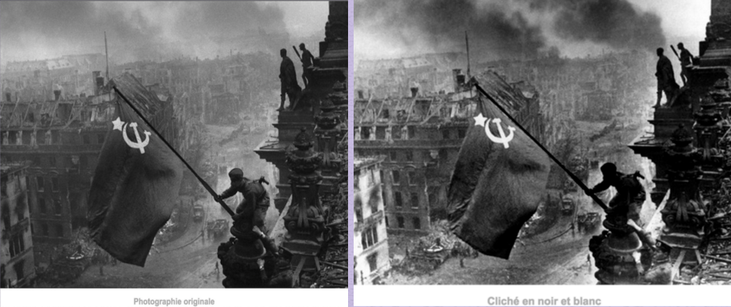 8 mai 1945 le drapeau rouge sur le reichstag 3