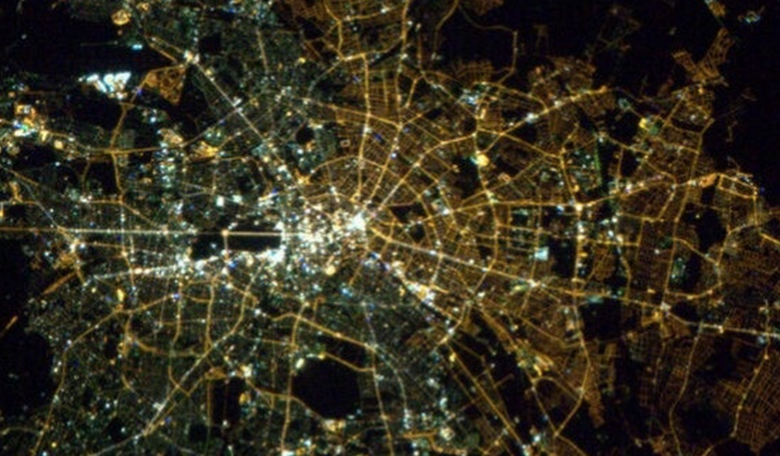 Berlin est ouest photo satellite