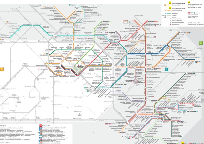 Carte du tram berlin