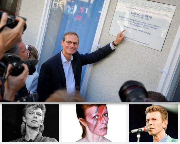 David bowie a de sormais une plaque en son honneur