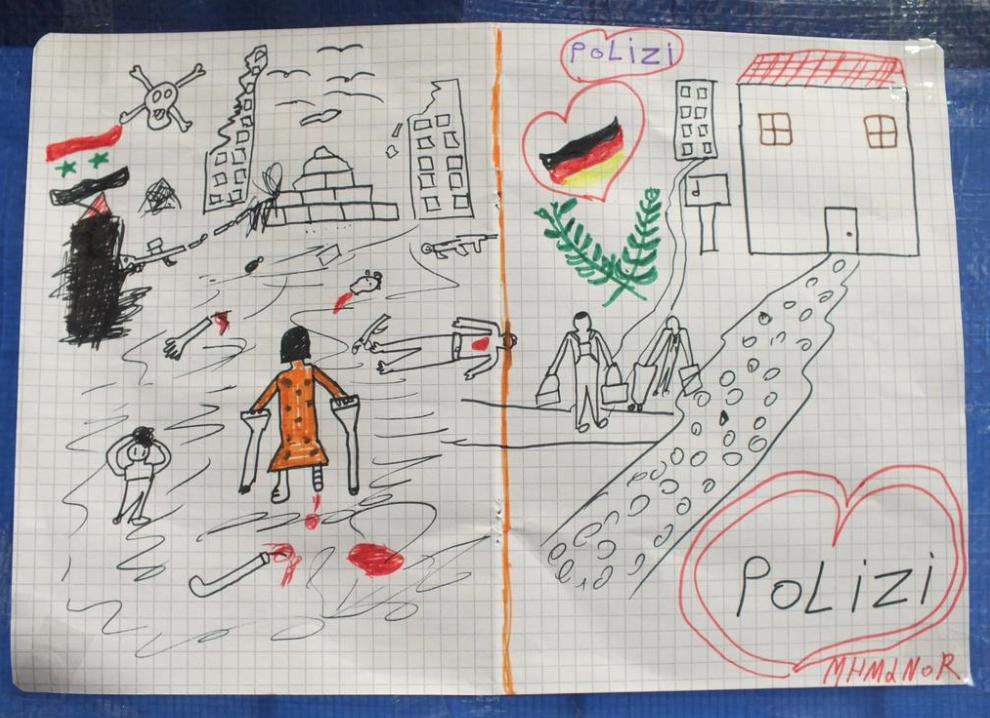 Dessin enfant syrien