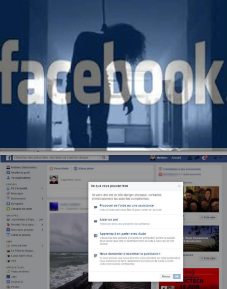 Facebook lance son bouton anti suicide en europe