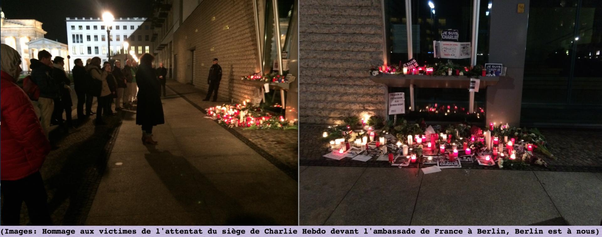 Hommage a charlie hebdo ambassade de france berlin