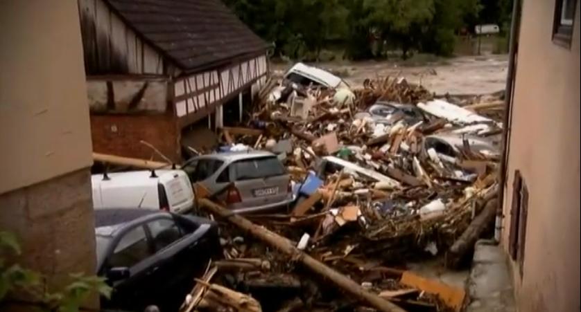 La ville de braunsbach ravage e apre s de violents orages