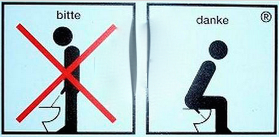 Pipi debout ou assis