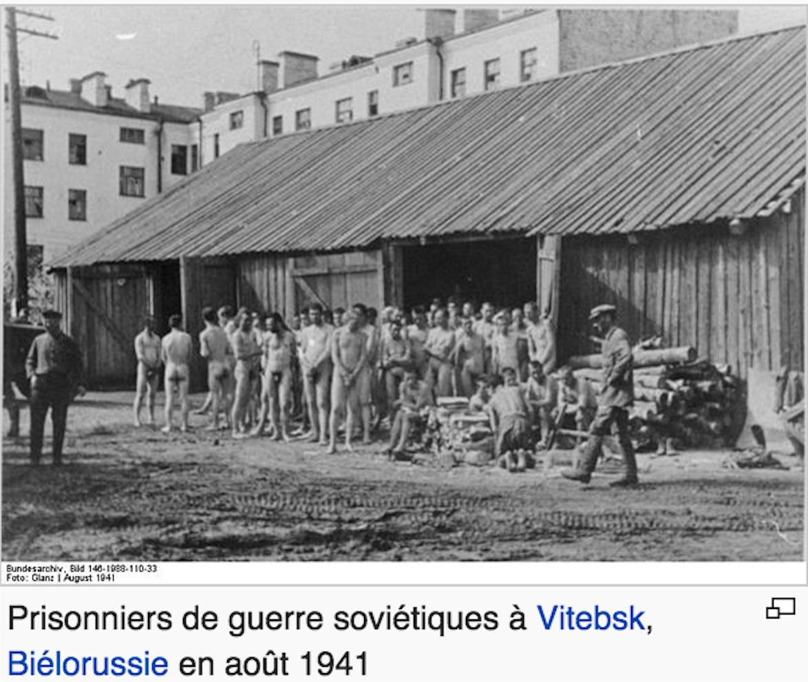 Prisonniers de guerre sovie tiques en camp nazi