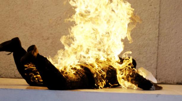 Un cas de combustion humaine spontane e en allemagne
