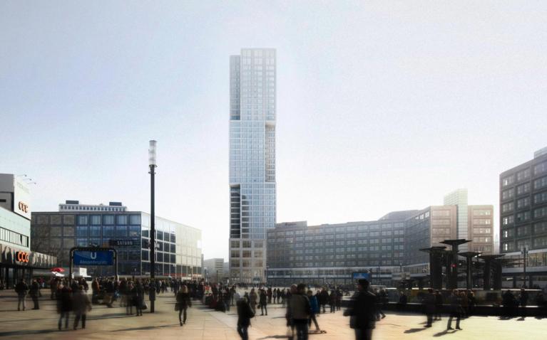 Un gratte ciel a alexanderplatz