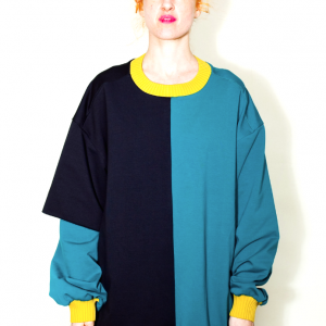 2 layers asymmetric sweater remesalt 1