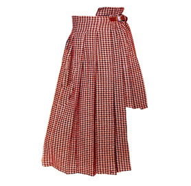Asymmetric skirt red remesalt