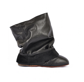 Ballet fake pant ankle boots miroike