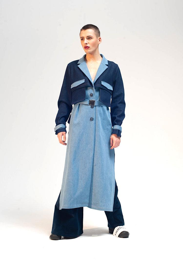 Cropped back trench damur 1
