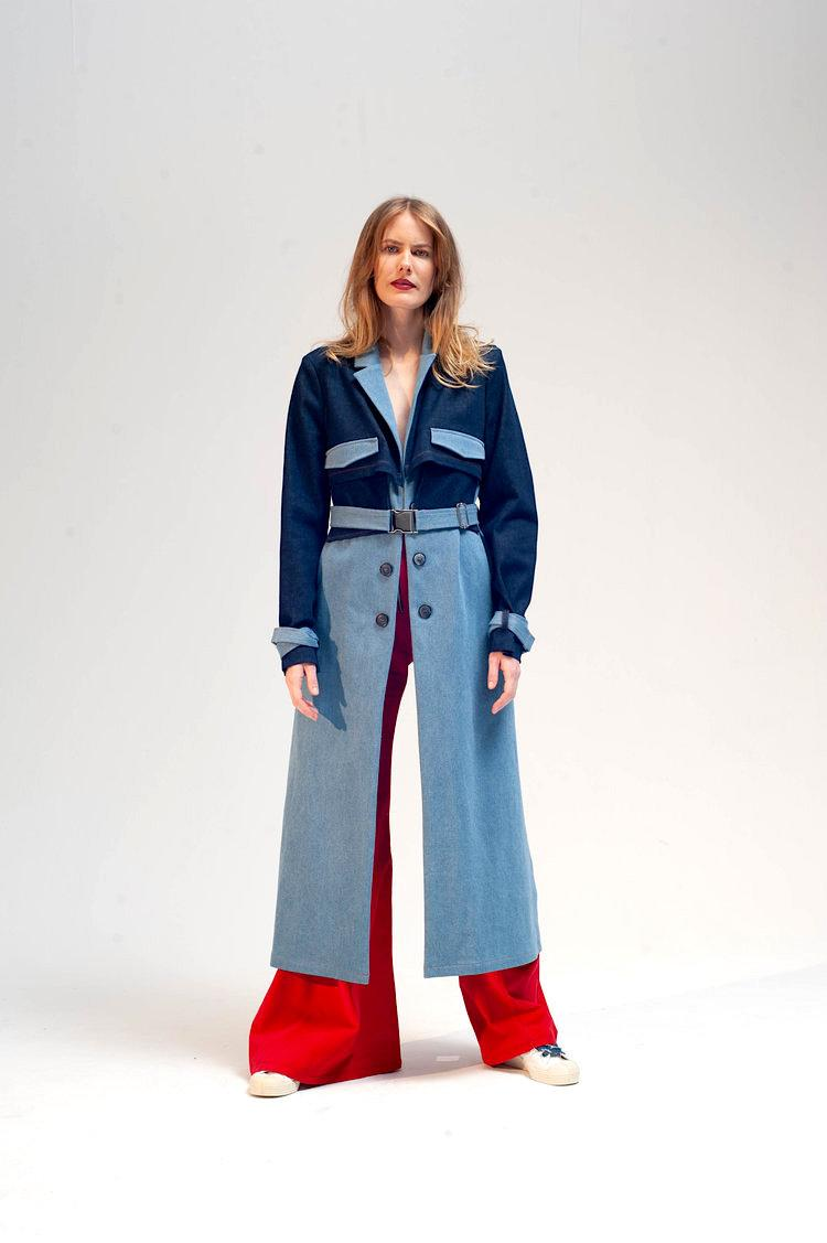 Cropped back trench damur 2