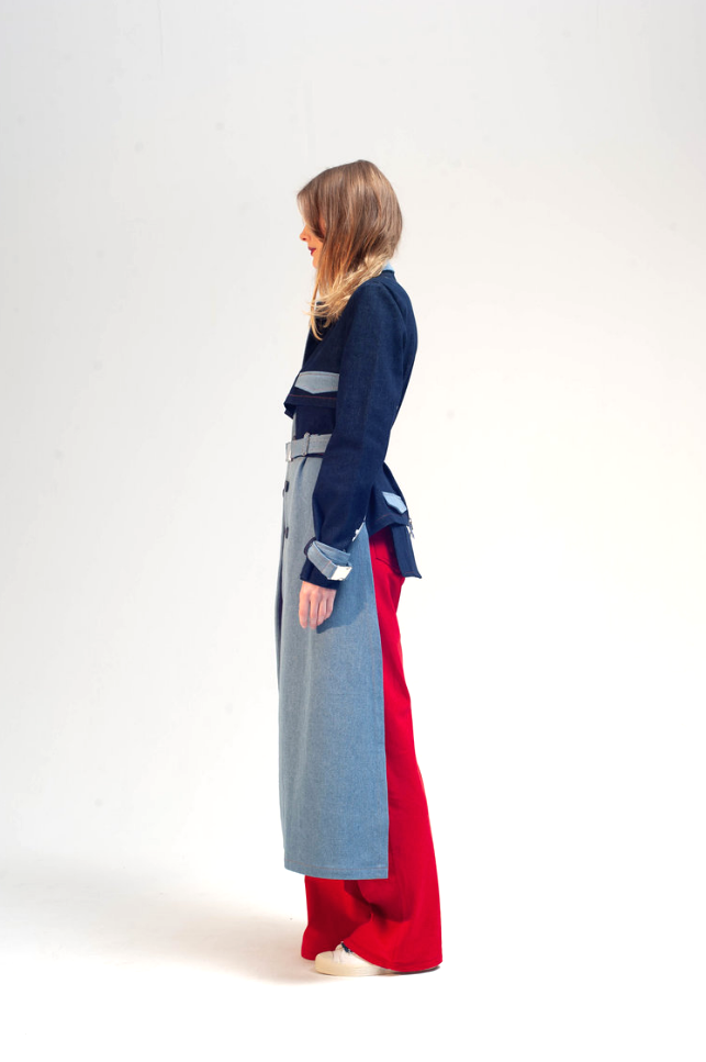 Cropped back trench damur 4