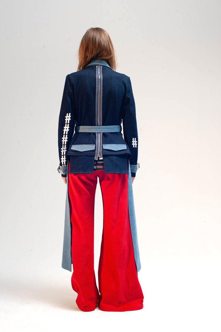 Cropped back trench damur 6