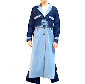 Cropped back trench damur