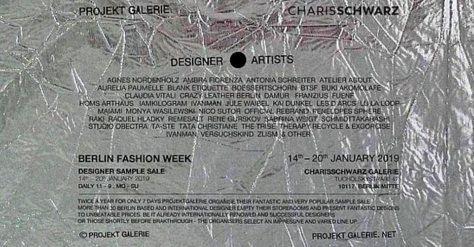Designer sample sale by projektgalerie berlin