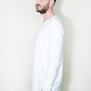 Extra long asymmetric t shirt white remesalt 2