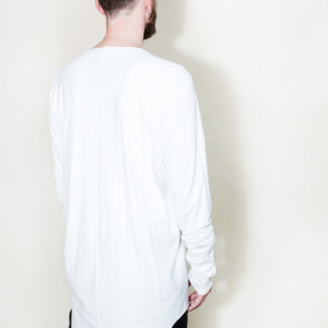 Extra long asymmetric t shirt white remesalt 3