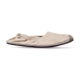 Leather espadrilles beige miroike