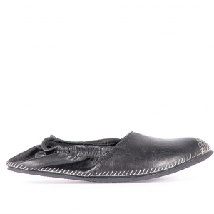 Leather espadrilles black miroike 1