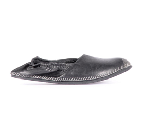 Leather espadrilles black miroike