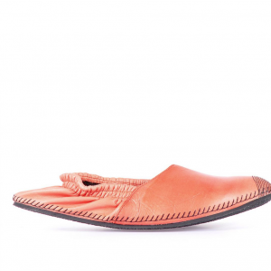 Leather espadrilles orange miroike 1