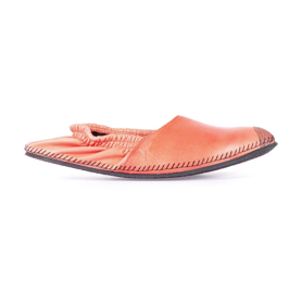 Leather espadrilles orange miroike
