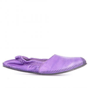 Leather espadrilles purple miroike 1
