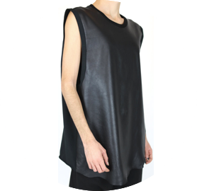 Leather unisex tank obectra