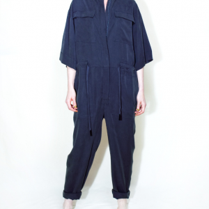 Oversize long overall dark blue remesalt 1