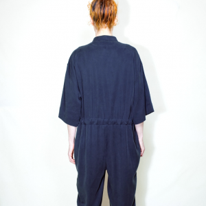 Oversize long overall dark blue remesalt 3