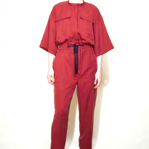 Oversize long overall red garnet remesalt 1