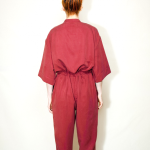 Oversize long overall red garnet remesalt 3