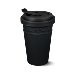 Porcelain to go cup black kpm 1