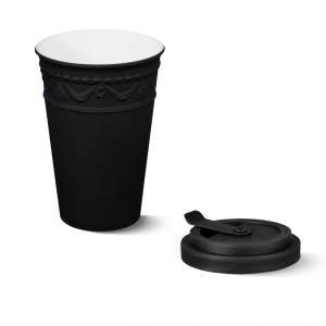 Porcelain to go cup black kpm 2