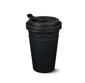 Porcelain to go cup black kpm