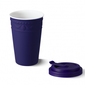 Porcelain to go cup blue kpm 2