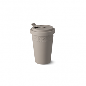Porcelain to go cup grey kpm 1
