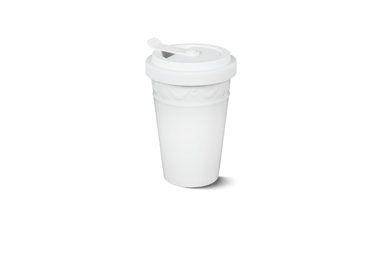 Porcelain to go cup white kpm 1