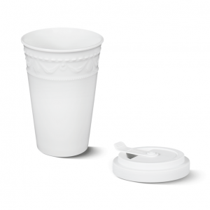 Porcelain to go cup white kpm 2
