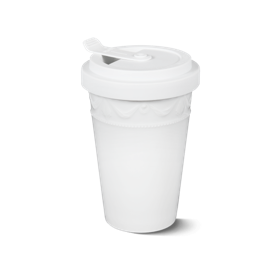 Porcelain to go cup white kpm