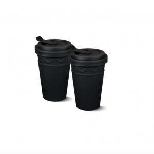 Porcelain to go duo cup black kpm