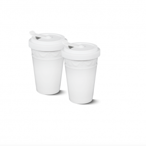 Porcelain to go duo cup white kpm