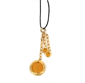 Shagreen charms necklace yellow zo landing