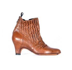 Sock shoo elastic ankle boots brown miroike