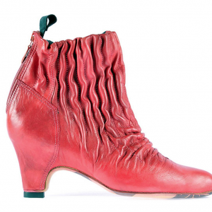 Sock shoo elastic ankle boots red miroike 1