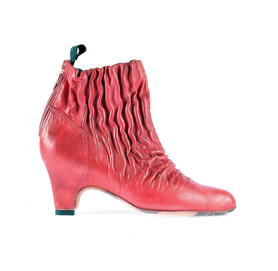 Sock shoo elastic ankle boots red miroike