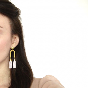 Tassel earrings rachel bitte danke 3