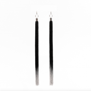 Transition earrings black perlensau 1
